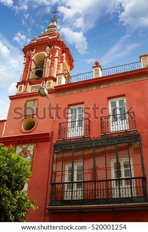 Seville parroquia de la O church in Spain at Triana of Sevilla andalusia