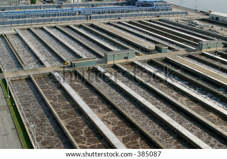 Planta de tratamiento de agua residual.