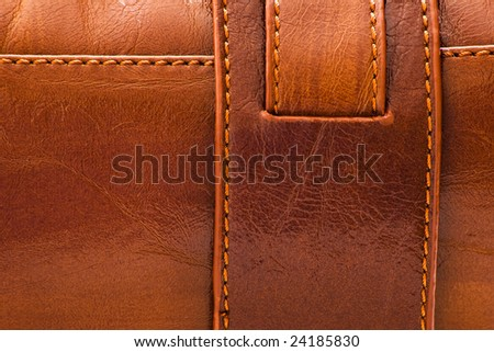 sewed brown leather background for texture