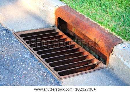 sewer by footpath