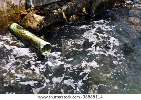 Sewer Pipe Dumping Into Ocean