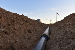 Sewer pipes for laying an external sewage system at a construction site. Sanitary drainage system for a multi-story building. Civil infrastructure pipe, water lines and storm sewers