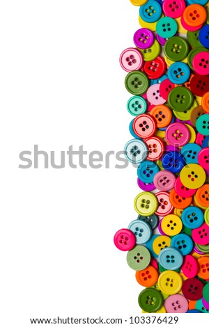 Sewing buttons background with copy space