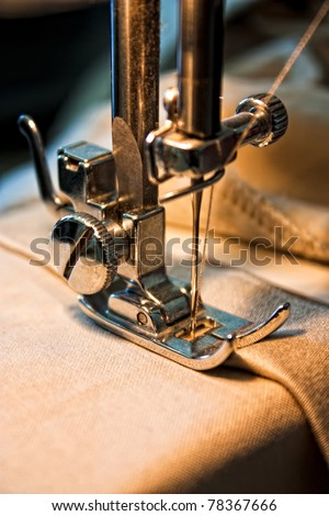 sewing machine and item of clothing