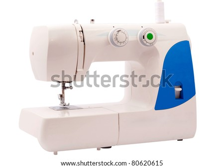 sewing machine on a white background