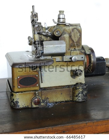 Sewing machine Sewing fabric along the inside. For durability and strength.