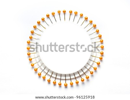 Sewing needle - stock photo