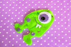 Sewing set for felt monster - how to make monster handmade toy
