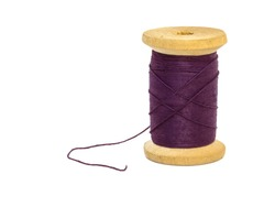 sewing threads spool  isolated on white background