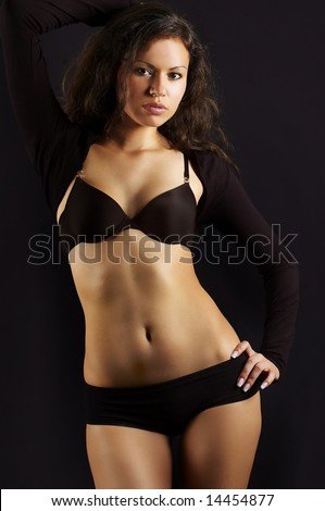 sexual girl n black underclothes