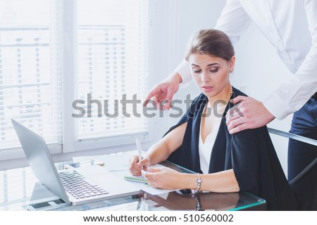 sexual harassment at work, office woman and her lustful boss #510560002