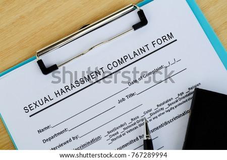 Sexual Harassment Complaint Form #767289994
