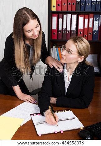 Sexual harassment. female boss sexually molested the female employee