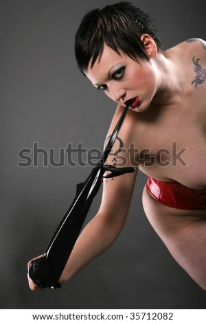 Sexy alternative girl - stock photo