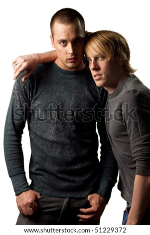 stock photo sexy attractive young gay couple isolated studio image 51229372 My First Sex Teacher Mrs. Delia and Bridgett Lee