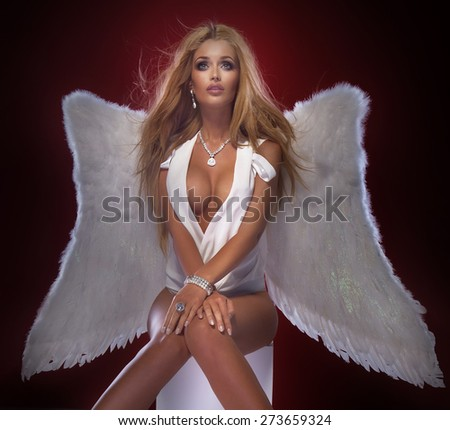 Sexy blonde angel