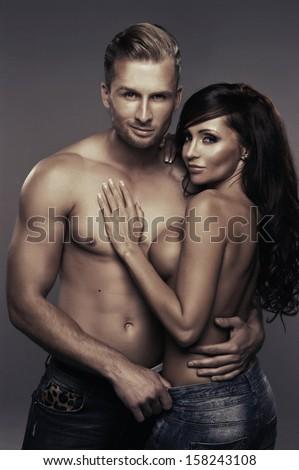 Sexy beauty couple