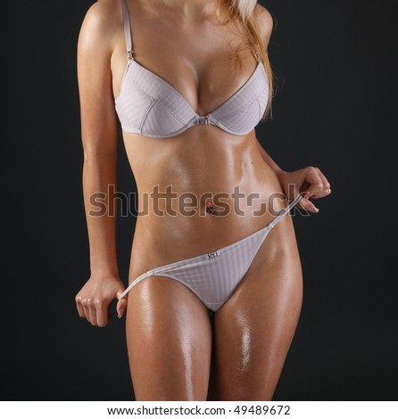 Sexy body of young attractive lady