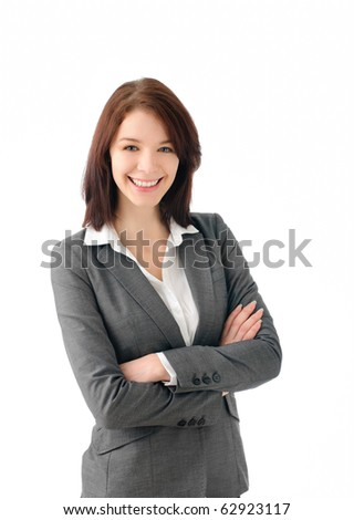 Sexy business woman smiling