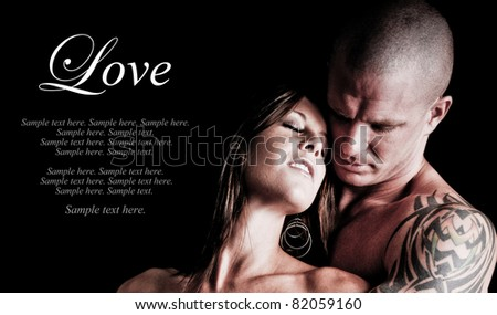 Sexy Couple embracing and in love with each other