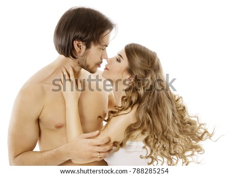 Talk. Nude young couple in action