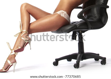 sexy feet girl, sitting in a chair