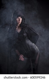 Stock photo of a sexy female assassin.