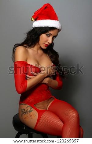 Sexy female santa