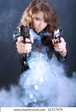 Sexy gangster girl