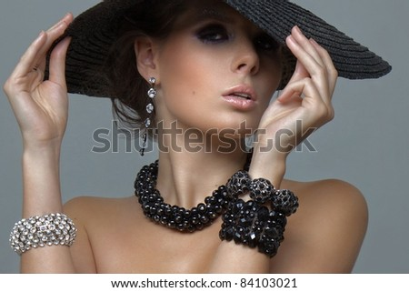 sexy girl in big hat