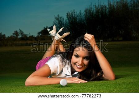 stock photo : sexy golf girl