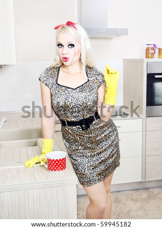 stock photo : Sexy housewife, similar available in my portfolio