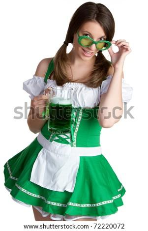 Sexy Irish St Patricks day girl