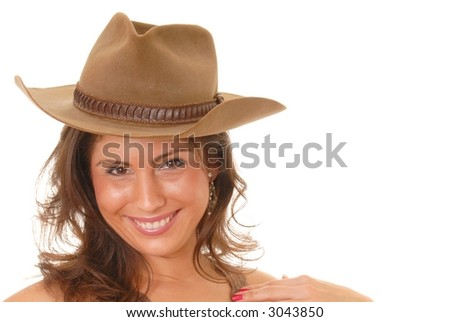 stock photo sexy latina girl wearing a cowboy hat 3043850 stock photo : Sexy latina girl wearing a cowboy hat. Save to a lightbox ▼