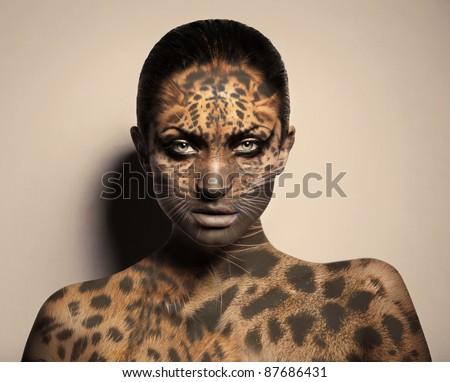 sexy leopard woman