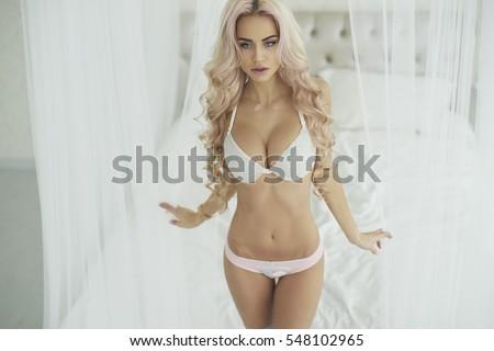 Sexy lingerie, Christmas girl underwear, Perfect body, Victoria Secret model #548102965