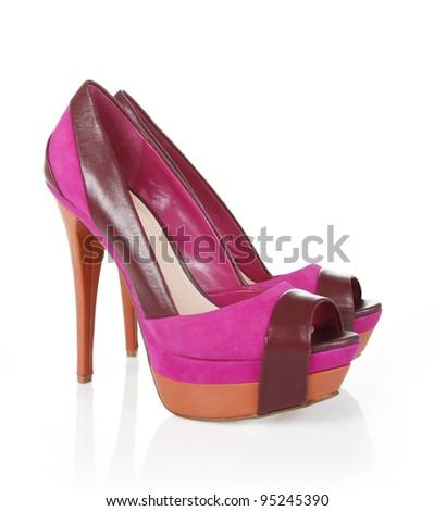 Sexy magenta shoes