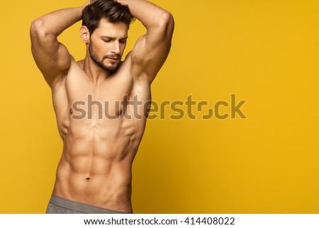 Sexy Male Model In Underwear #414408022