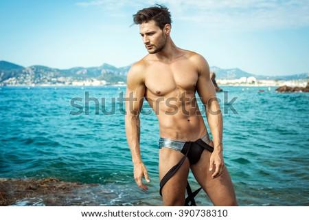 Sexy Male Model Wear Men\'s Underwear