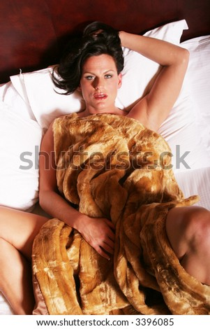 stock photo : Sexy mature woman in bed
