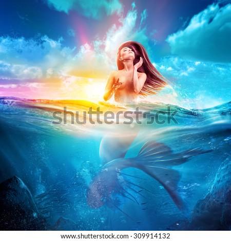 русалка голая фото