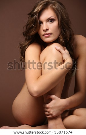 stock photo : Sexy nude young girl posing in studio.
