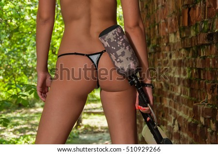 free photos sexy paintball girl with gun | avopix