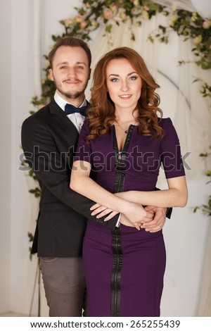 Sexy passion couple in love. Portrait of beautiful young man and woman dressed in classic clothes.sexy couple, lovers people, elegance pretty, classic