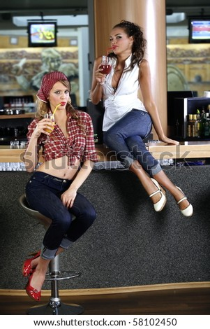stock photo sexy pin up girls drinking cocktails in the bar 58102450 ... to studious Sunny's previous post on the south Indian sex scandal, ...