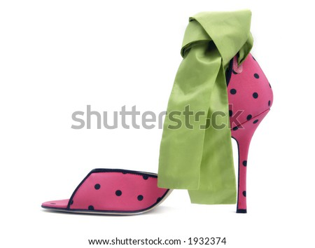 sexy red shoes shoes with a green bow