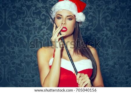 sexy santa dominatrix woman...