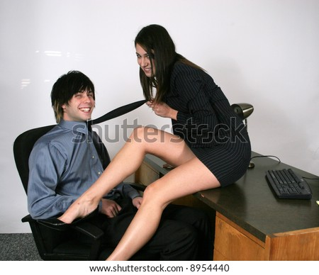stock photo sexy secretary playful with boss 8954440 Videos of Christina Cox and Karen Dwyer nude ...