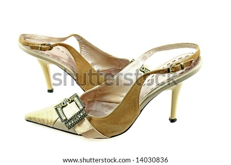 sexy shoes isolated on white as sample of my shoes images