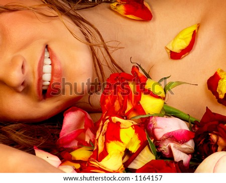 Sexy woman and roses.\\ VISIT MY PORTFOLIO, PLEASE. WELCOME!!!